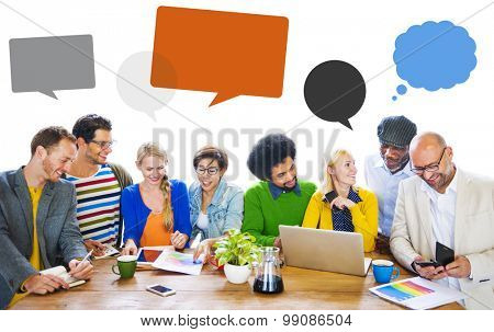 Diversity People Discussion Brainstorming Speech Bubble Concept