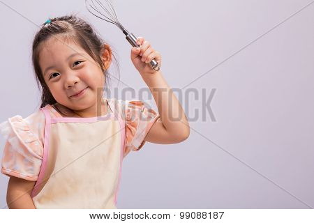Child With Kitchenware / Child With Kitchenware Background