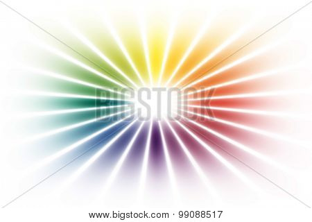 rainbow circle on white background