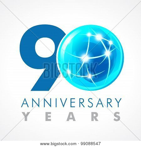 90 anniversary connecting logo