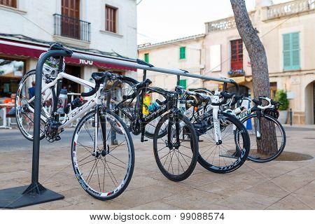 Sport Bikes Parked