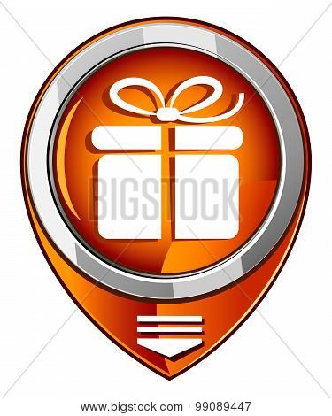 Gift Box - Vector Orange Pointer