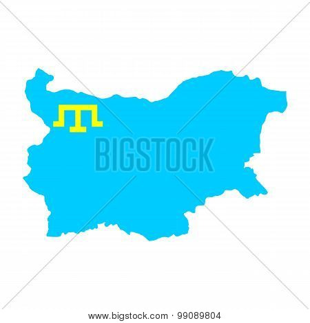 Map flag of Bulgaria - the Crimean Tatars. Crimean Tatars in Bulgaria