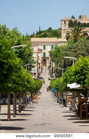 The Main Pedestrian Street Of Arta, Mallorca