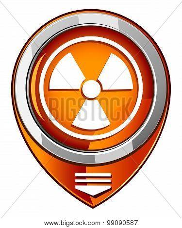 Radioactive Vector Orange Pointer