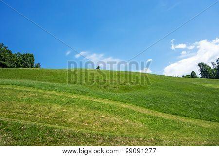 Green Hill Blue Sky