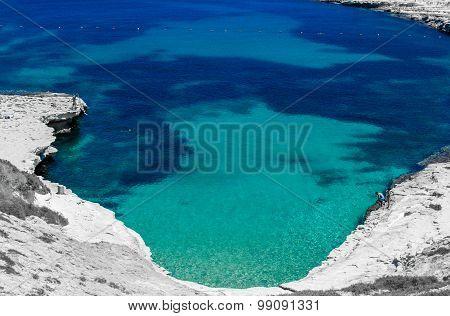 Rocky beach in Malta