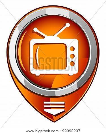 Tv Vector Round Orange Pointer