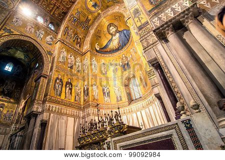 Interior View Of Monreale Cathedral