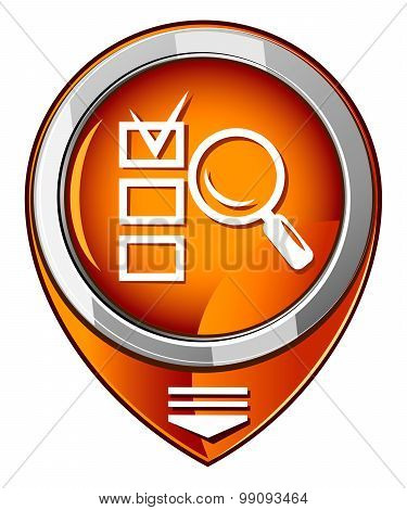 Magnifying Glass Orange Pointer