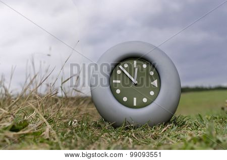Clock In A Field
