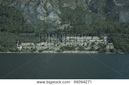 Limone Sul Garda. Lake Garda. Italy, View Of A Lemon House From The Lake