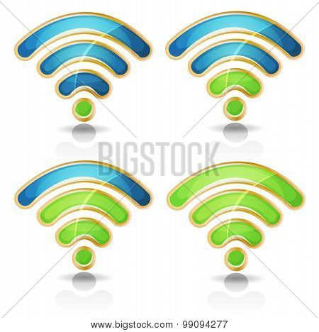 Wifi Icons Set For Tablet Pc Ui Game