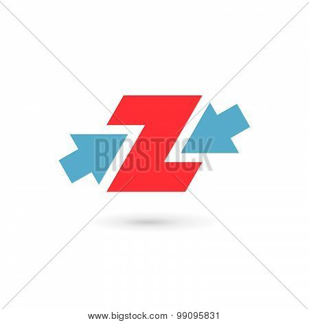 Letter Z Number 2 Logo Icon Design Template Elements