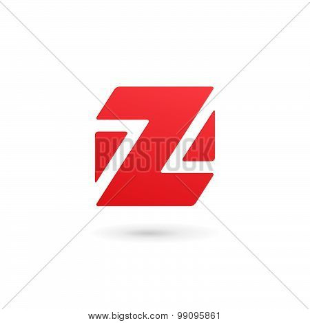 Letter Z Number 2 Cube Logo Icon Design Template Elements