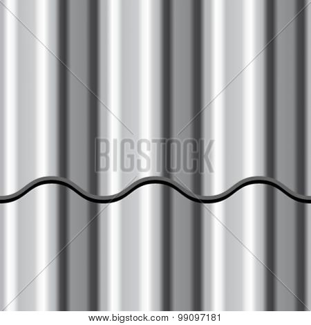 vector corrugated iron shiny metal seamless background