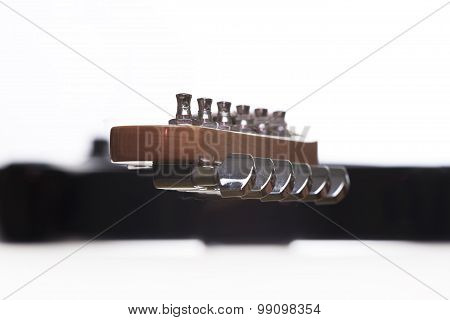 Electric Guitar On A White Background