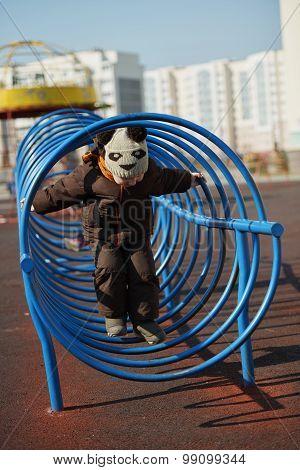children play on the playground