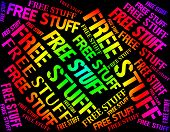 Free Stuff Indicates With Our Compliments And Buy poster