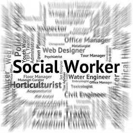 foto of blue-collar-worker  - Social Worker Meaning Blue Collar And Operator - JPG