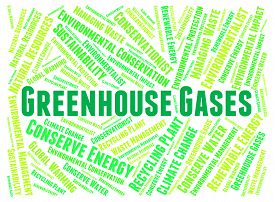 foto of gases  - Greenhouse Gases Meaning Carbon Dioxide And Words - JPG