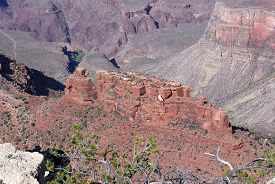 pic of battleship  - Rock formation in the Grand Canyon known as the Battleship - JPG