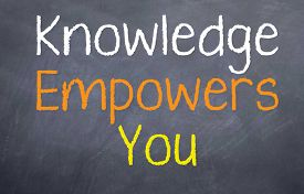 image of you are awesome  - Motivational Saying That with knowledge you gain power from it - JPG