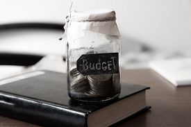 stock photo of budget  - Budget concept - JPG