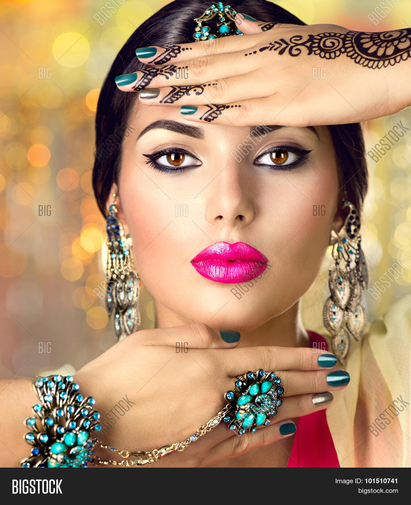 Beautiful fashion indian woman image photo bigstock for Oriental accessories