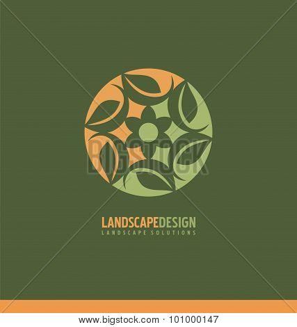 Landscaping logo design concept