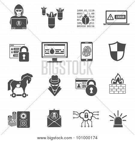 Internet Security Icon Set