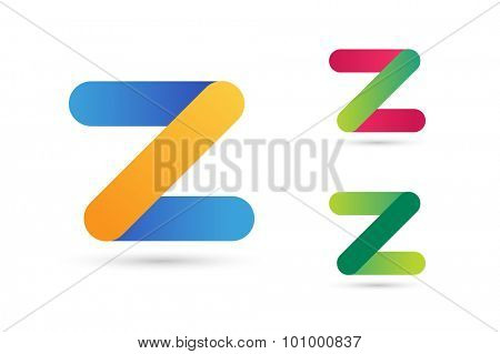 Abstract Z character vector logo icon template. Power z vector, z letter logo, web studio, design studio, round shape,z logo icon, company z logo, abstract logo, design element, creative idea. Company