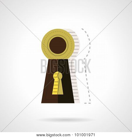 Keyhole flat color vector icon