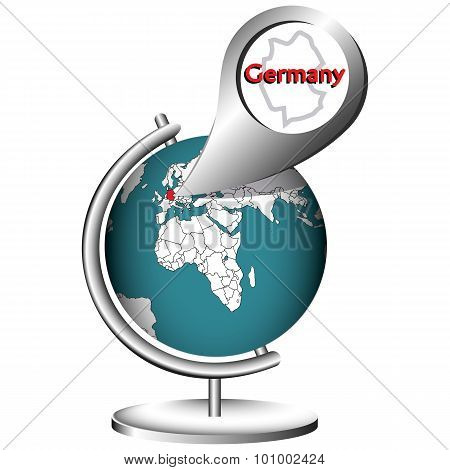 Illustration Vector Graphic Globe Germany