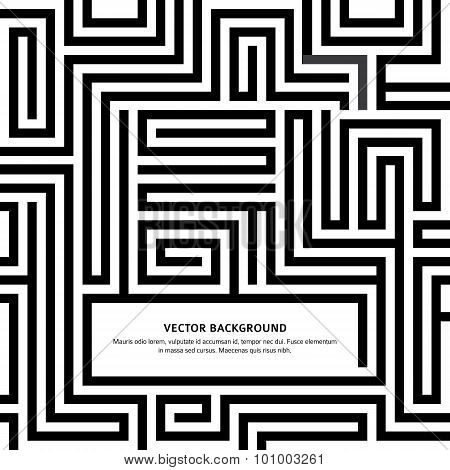 Maze-black-white-background-your-message