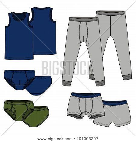 Pants, briefs, shirt - color