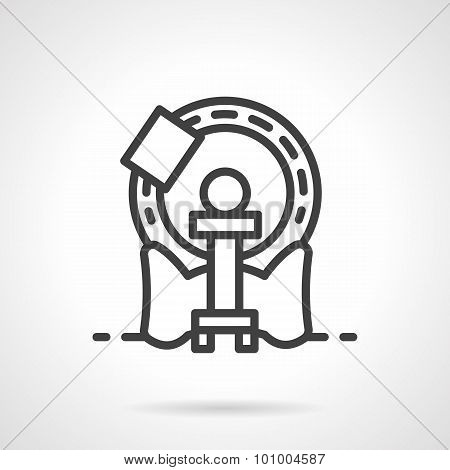 Simple line MRI machine vector icon