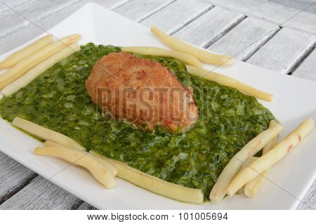 Meatloaf On Spinach