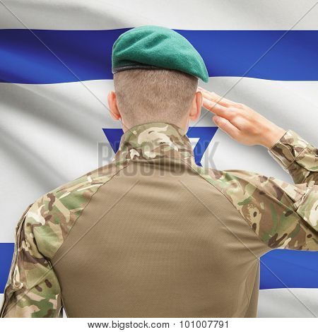 National Military Forces With Flag On Background Conceptual Series - Israel