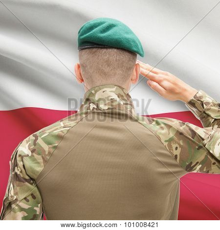 National Military Forces With Flag On Background Conceptual Series - Poland