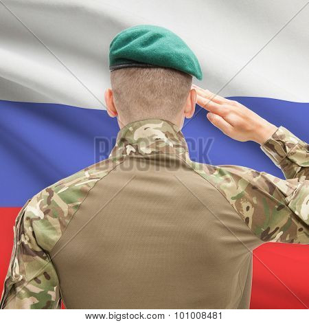 National Military Forces With Flag On Background Conceptual Series - Russia