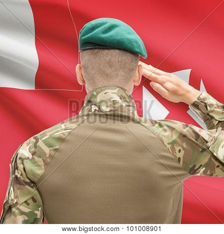 National Military Forces With Flag On Background Conceptual Series - Wallis And Futuna