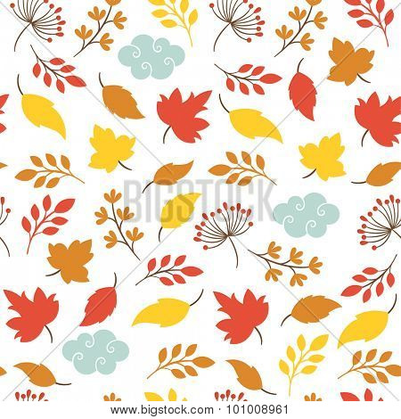 autumn leaves , seamless pattern