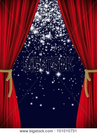 Red Starry Curtain