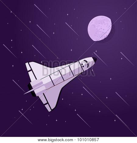 Shuttle In Space