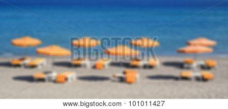 Greece. Kos Island. Kefalos Beach. In Blur Style