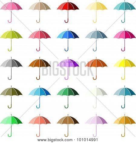 Multiple Colored Umbrella