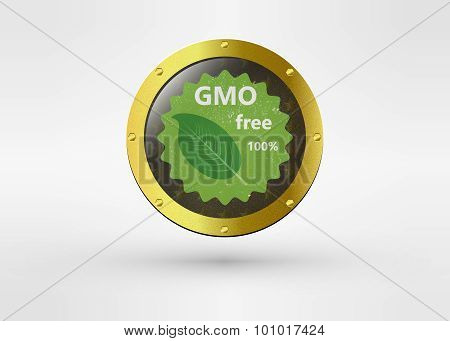 Made with Non - GMO ingredients grunge rubber medal, vector illustration