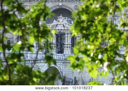Corte Di Cassazione Through Green Leaves