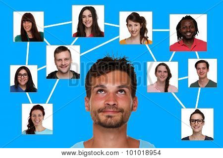 Relations, Friends And Contacts In Social Network